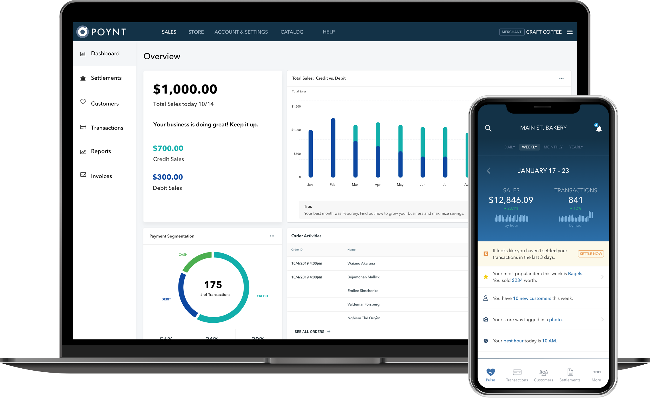 The online HQ for Poynt's payment processing unit