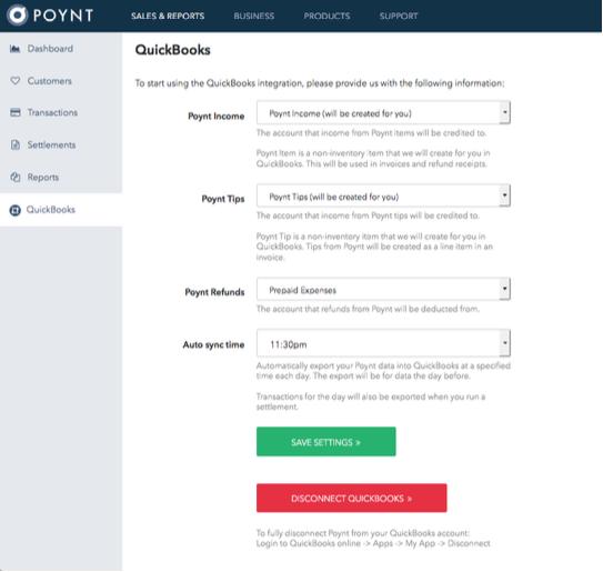 Integrating QuickBooks with Poynt – Poynt Help Center