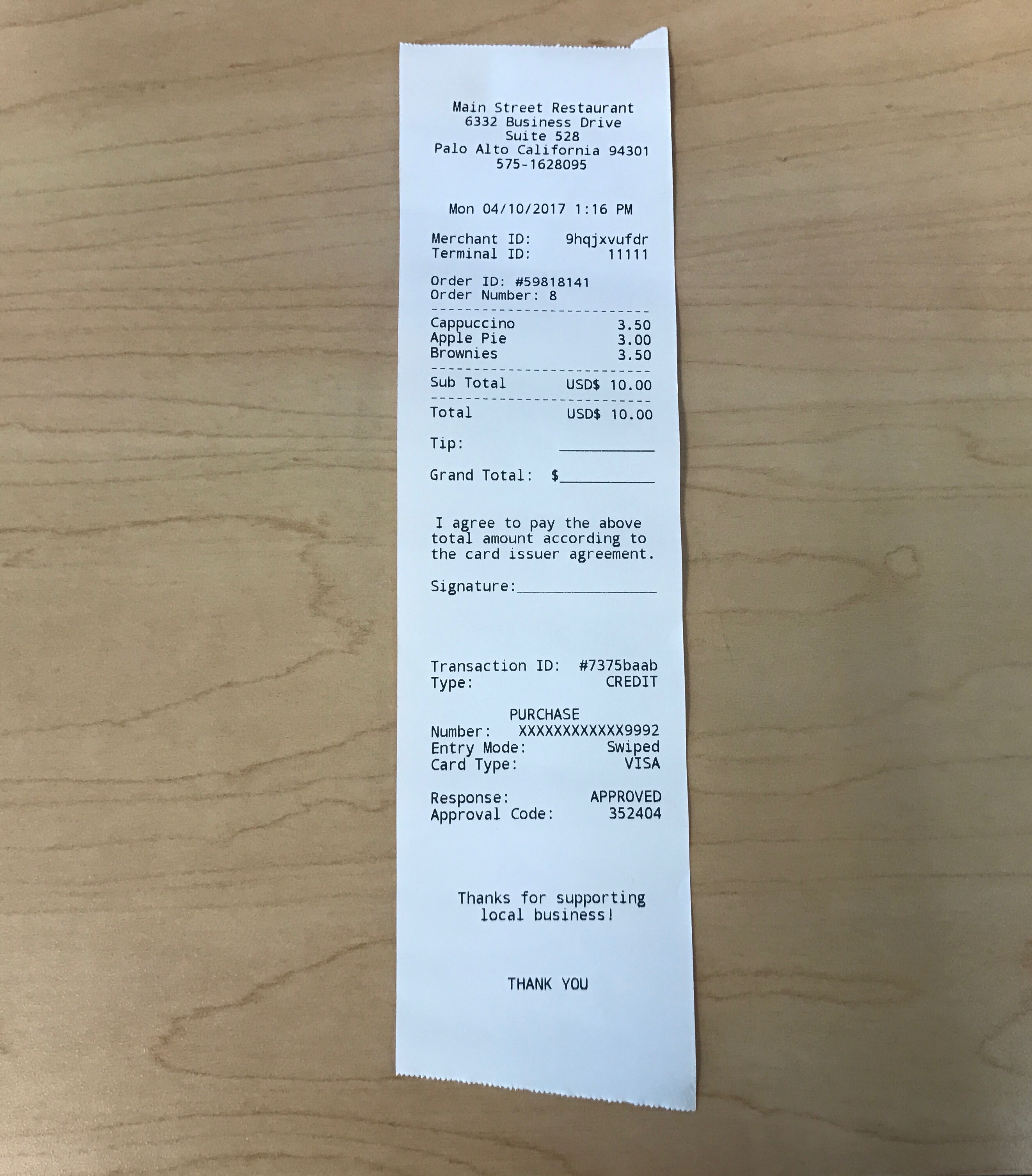 printing a receipt with signature line poynt help center
