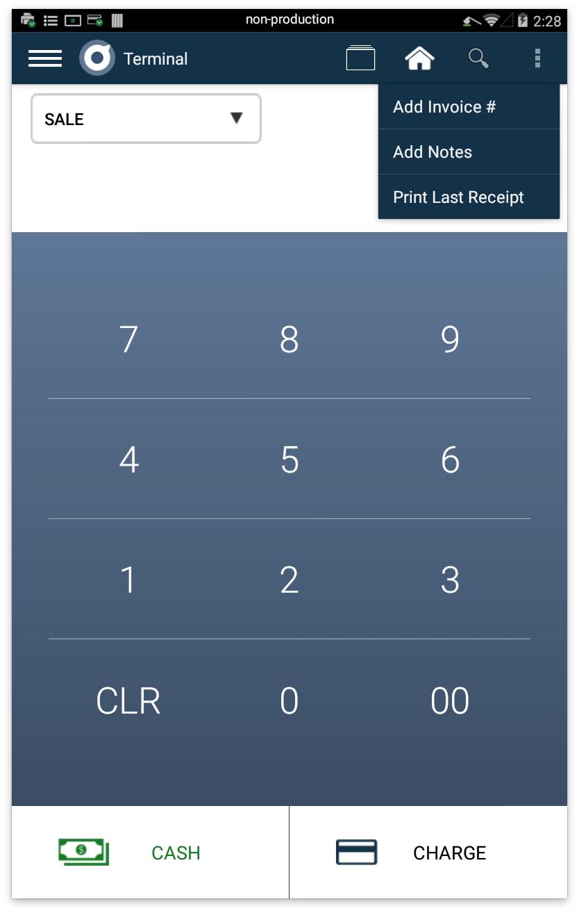 the merchant may also go to transactions app select the payment and then the receipt tab to print a new receipt